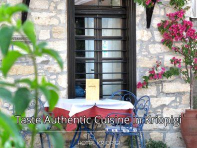 Taste Authentic Greek Cuisine in Kriopigi